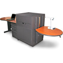 Marvel MVMDA7230CHDT-H Desk/Media Center - Acrylic Door; Hand Mic - Cherry
