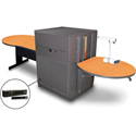 Marvel MVMTKM4830OKDT-H Keyhole Table/Media Center - Steel Door; Hand Mic - Oak