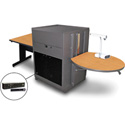 Marvel MVMTRA3630OKDT-H Rectangle Table/Media Cntr- Acrylic Door; Hand Mic - Oak