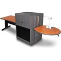 Marvel MVMTRA4830CHDT Rectangular Table/Media Center - Acrylic Door - Cherry