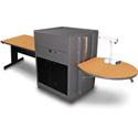 Marvel MVMTRA4830OKDT Rectangular Table/Media Center - Acrylic Door - Oak