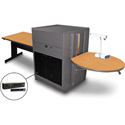 Marvel MVMTRA4830OKDT-H Rectangle Table/Media Cntr- Acrylic Door; Hand Mic - Oak