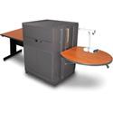 Marvel MVMTRM3630CHDT Rectangular Table/Media Center - Steel Door - Cherry