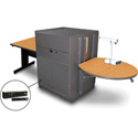 Marvel MVMTRM3630OKDT-H Rectangle Table/Media Cntr- Steel Door; Hand Mic - Oak