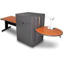 Marvel MVMTRM4830CHDT Rectangular Table/Media Center - Steel Door - Cherry