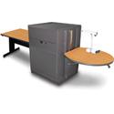 Marvel MVMTRM4830OKDT Rectangular Table/Media Center - Steel Door - Oak