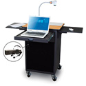 Marvel MVPCA2622OKDT-E Presentation Cart with Acrylic Door & Earpiece Mic - Oak