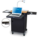 Marvel MVPCM2622OKDT-H Presentation Cart with Metal Door & Hand Mic - Oak