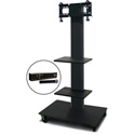 Marvel MVPFS3255DT-2H Monitor Stand with Two Shelves & Hand Microphone
