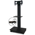 Marvel MVPFS3265DT-E Monitor Stand with Shelf & Earpiece Microphone