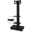Marvel MVPFS3280DT-2H Monitor Stand with Two Shelves & Hand Microphone