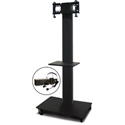 Marvel MVPFS3280DT-E Monitor Stand with Shelf & Earpiece Microphone