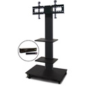 Marvel MVPFS6055DT-2H Monitor Stand with Two Shelves & Hand Microphone