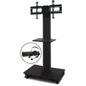 Marvel MVPFS6055DT-E Monitor Stand with Shelf & Earpiece Microphone