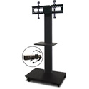 Marvel MVPFS6065DT-E Monitor Stand with Shelf & Earpiece Microphone