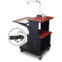 Marvel MVPSA2432CHDT-E Benchmark Cart with Acrylic Door and Ear Mic - Cherry