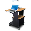 Marvel MVPSA2432OKDT-L Benchmark Cart with Acrylic Door & Laptop Shelf - Oak