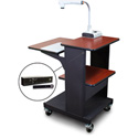 Marvel MVPSE2432CHDT-H Benchmark Cart with Hand Microphone - Cherry