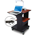 Marvel MVPSE2432CHDT-LE Benchmark Cart with Laptop Shelf & Earpiece Mic - Cherry