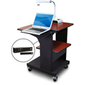 Marvel MVPSE2432CHDT-LH Benchmark Cart with Laptop Shelf & Hand Mic - Cherry