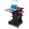 Marvel MVPSE2432CHDT-LT Benchmark Cart with Laptop Shelf & Tilting Shelf- Cherry