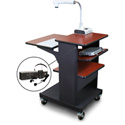 Marvel MVPSE2432CHDT-TE Benchmark Cart with Tilting Shelf & Ear Mic - Cherry