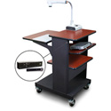 Marvel MVPSE2432CHDT-TH Benchmark Cart with Tilting Shelf & Hand Mic - Cherry