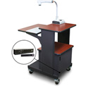 Marvel MVPSM2432CHDT-H Benchmark Cart with Metal Door and Hand Mic - Cherry