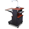 Marvel MVPSM2432CHDT-T Benchmark Cart with Metal Door and Tilting Shelf - Cherry