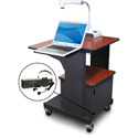 Marvel MVPSM2432CHDT-LE Benchmark Cart - Metal Door; Lap Shelf; Ear Mic - Cherry