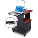 Marvel MVPSM2432CHDT-LH Benchmark Cart - Metal Door; Lap Shelf; Hand Mic- Cherry