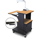 Marvel MVPSM2432OKDT-H Benchmark Cart with Metal Door and Hand Mic - Oak