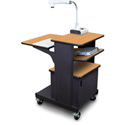 Marvel MVPSM2432OKDT-T Benchmark Cart with Metal Door and Tilting Shelf - Oak