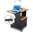 Marvel MVPSM2432OKDT-LE Benchmark Cart - Metal Door; Lap Shelf; Ear Mic - Oak