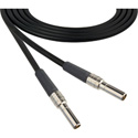 6 Foot Mid Size Video Patch Plug Male to Male Cable Black