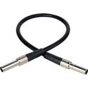 Canare MVPC002FBK 75 Ohm Mid Size Video Patch Cord 2ft - Black
