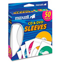 Maxell CD-400 CD/DVD Sleeves (50-Pack)