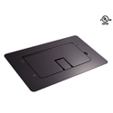 Mystery FMCA2200 Flat Trim Satin Black Floor Box with Cable Door