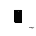 Mystery FP-1G-0-B 1-Gang Black Wall Panel Blank