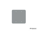 Mystery FP-2G-0-S 2-Gang Stainless Wall Panel Blank