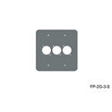 Mystery FP-2G-3-S 2-Gang Stainless Wall Panel 3 Each Neutrik D