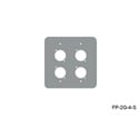 Mystery FP-2G-4-S 2-Gang Stainless Wall Panel 4 Each Neutrik D
