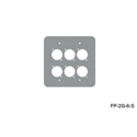 Mystery FP-2G-6-S 2-Gang Stainless Wall Panel 6 Each Neutrik D
