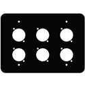 Mystery FP-3G-6-B 3-Gang Black Wall Panel 6 Each Neutrik D