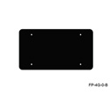 Mystery FP-4G-0-B 4-Gang Black Wall Panel Blank