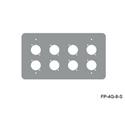 Mystery FP-4G-8-S 4-Gang Stainless Wall Panel 8 Each Neutrik D