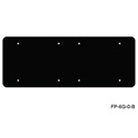Mystery FP-6G-0-B 6-Gang Black Wall Panel for Blank