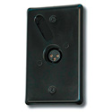 Mystery RPF50Q Black Wallplate with 1/4 Inch TRS Phone Jack
