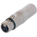 Neutrik 3 pole XLRM - 3 pole XLRF Wired Extension Adapter