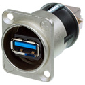 Neutrik NAUSB3 Feed Through USB 3.0 Compatible - Reversible - Nickel